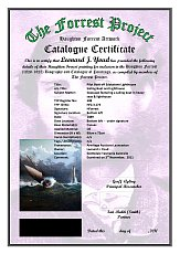 Forrest Project Catalogue Certificate