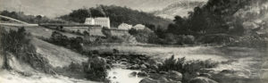 HF4.1.025 Womens Prison Cascade Brewery and Mount Wellington from Hobart Rivulet by Haughton Forrest