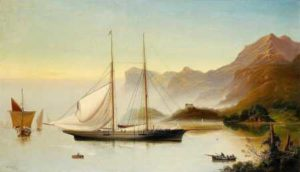 HF2.1.013 The Duke of Rutlands Yacht Shark in the Kyles of Bute 1873 by Haughton Forrest